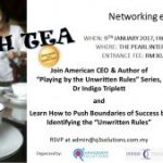 Networking event with Dr Indigo Triplett