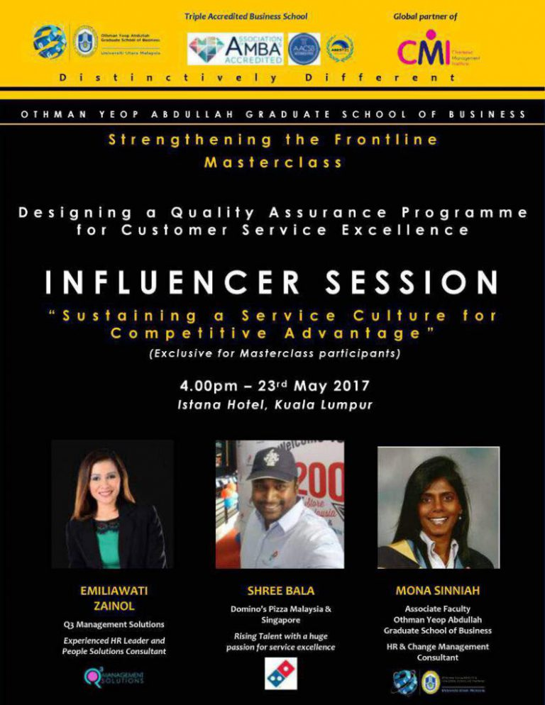 """Influencer Session on """"Sustaining a Service Culture for Competitive Advantage""""."""