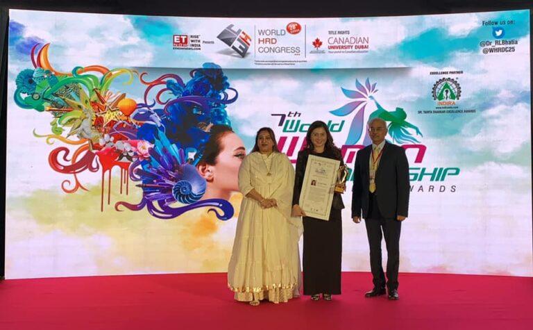 7th World Women Leadership Congress & Awards held at Taj Lands End, Mumbai, India.