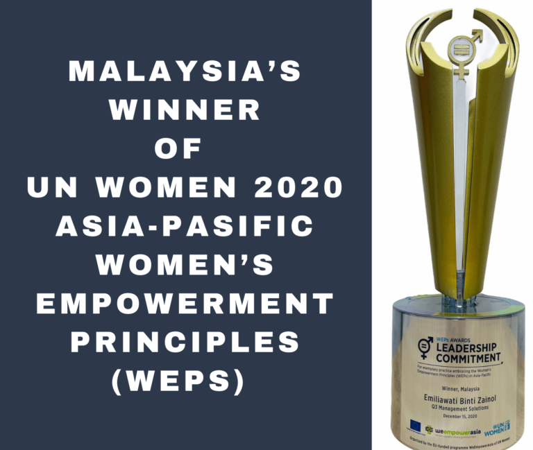 Malaysia's Winner of the UN Women 2020 Asia-Pacific Women's Empowerment Principles (WEPs)